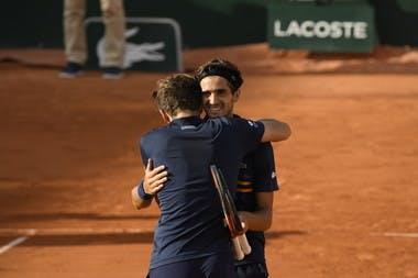 Pierre-Hugues Herbert Nicolas Mahut Roland-Garros 2018.