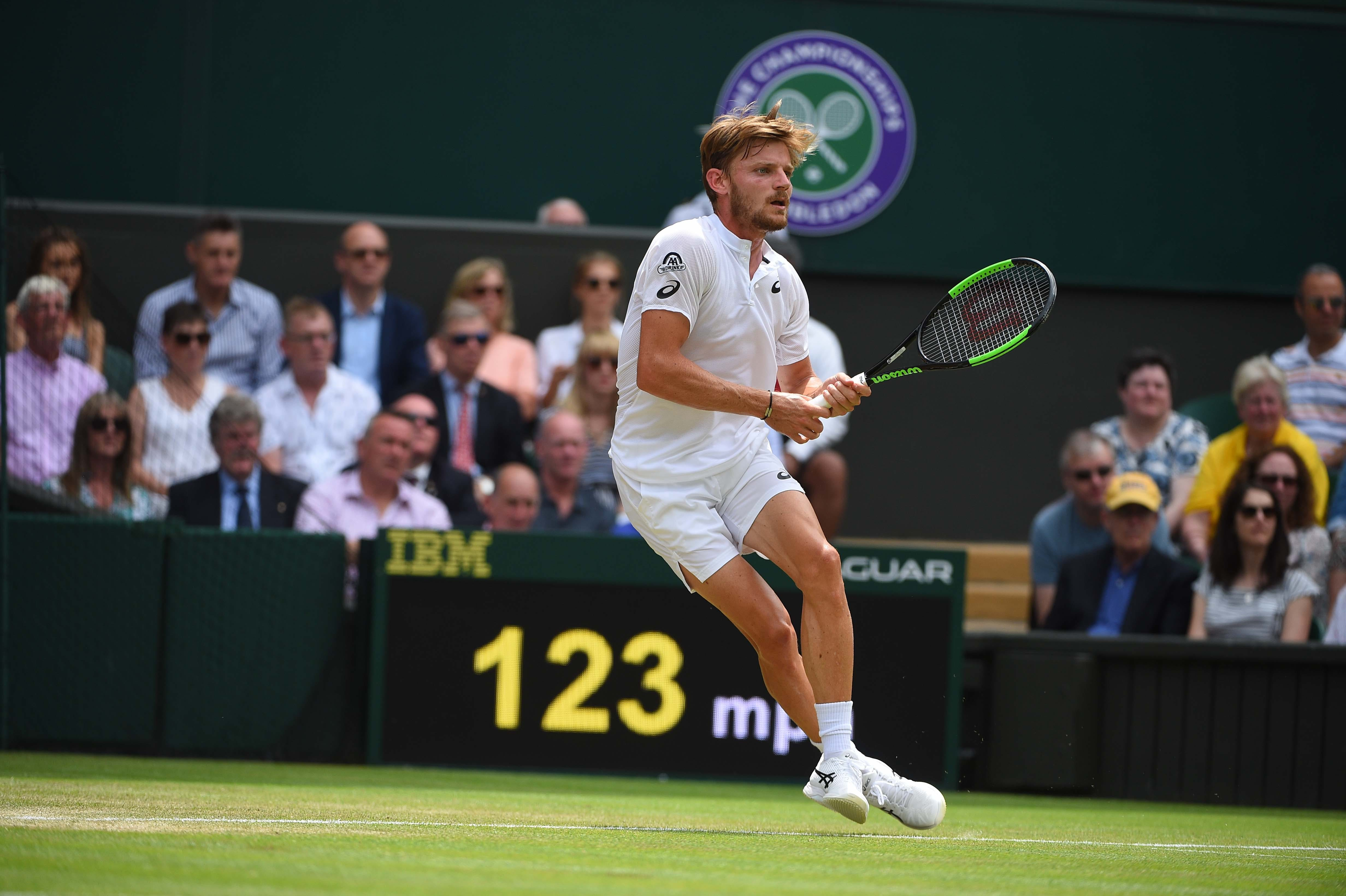 David Goffin at Wimbledon 2019.