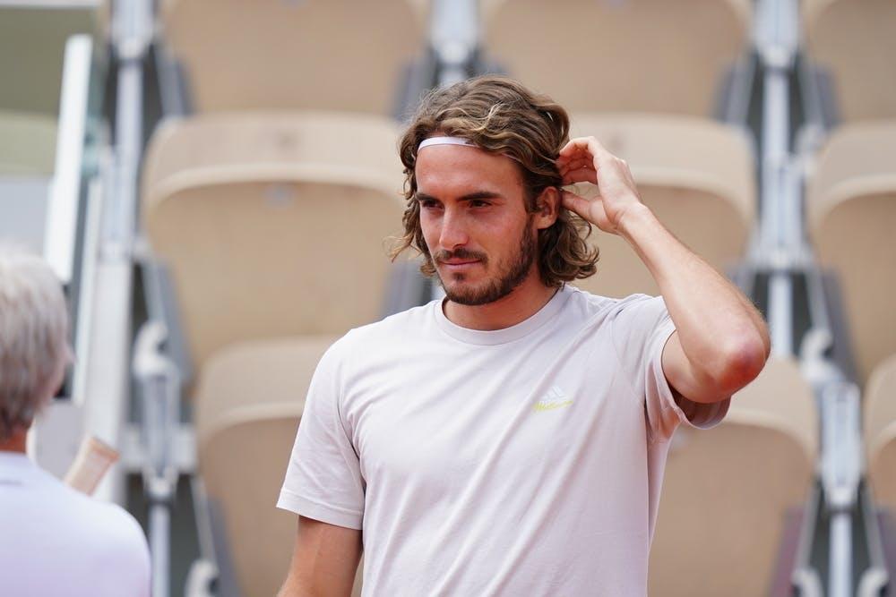 Stefanos Tsitsipas, Roland Garros 2021, practice