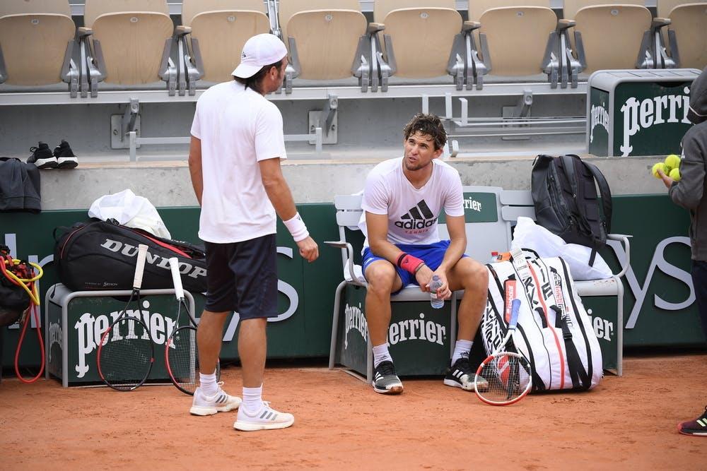 Dominic Thiem, Nicolas Massu, Roland-Garros 2020, entraînement, jeudi 24 septembre