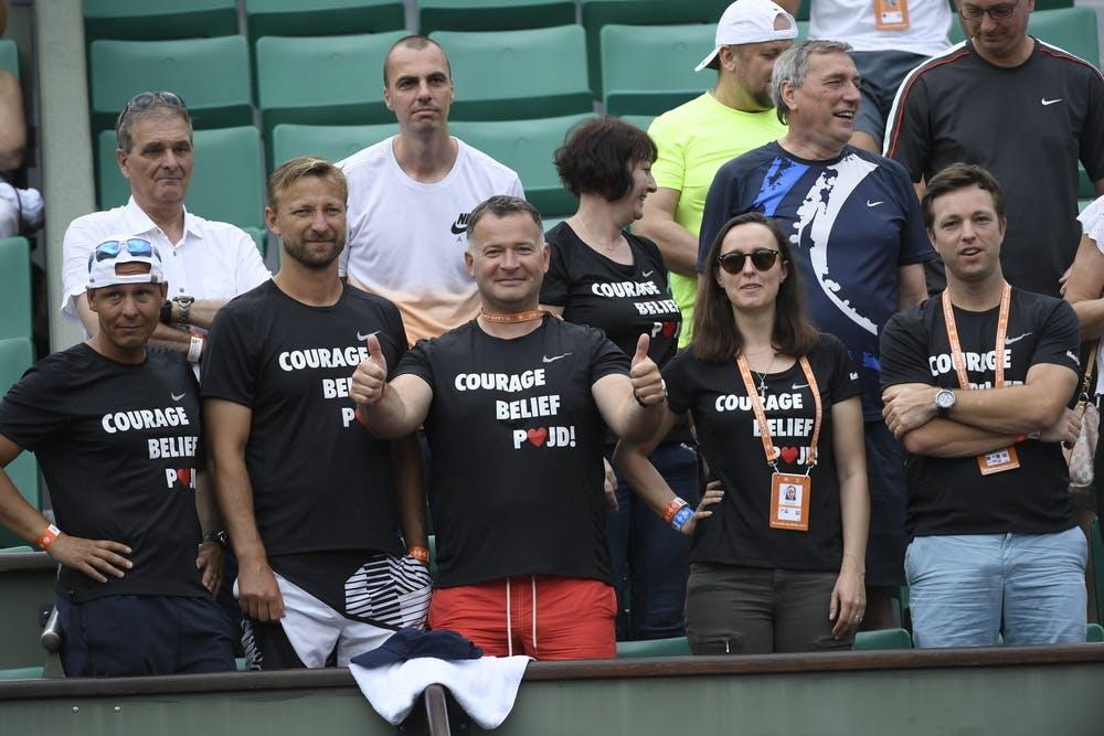 Petra Kvitova's team, Roland Garros 2017, first round