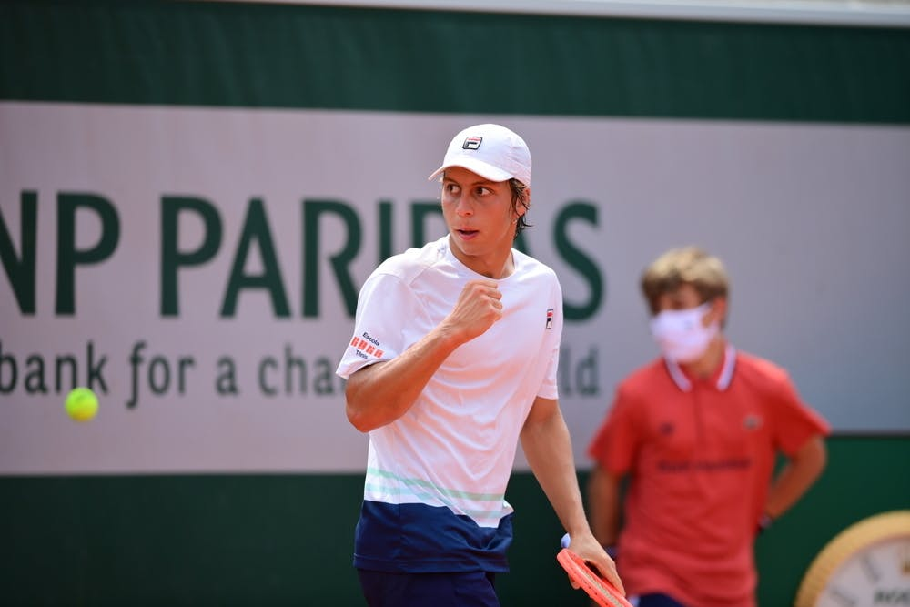 Pedro Boscadin Dias, Roland-Garros 2021, boys' singles second round
