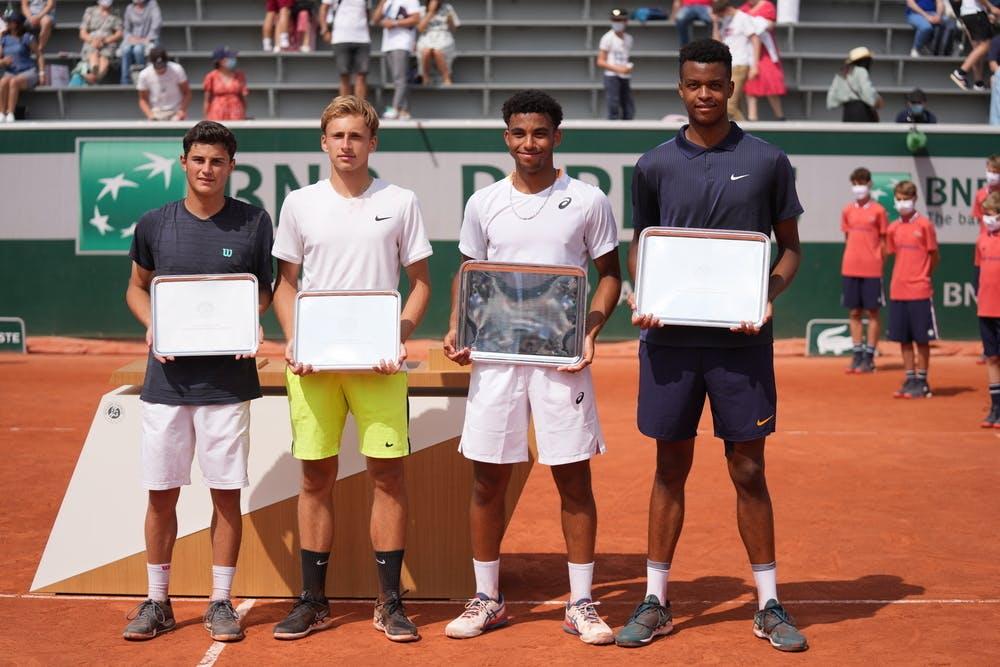 Martin Katz, German Samofalov, Arthur Fils, Giovanni Mpetshi Perricard, Roland-Garros 2021, boys' doubles final