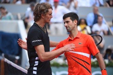Novak Djokovic Alexander Zverev Roland Garros 2019