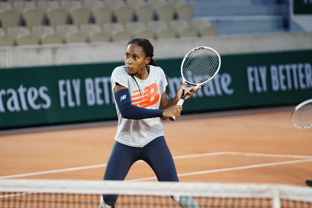 Coco Gauff, Roland Garros, practice