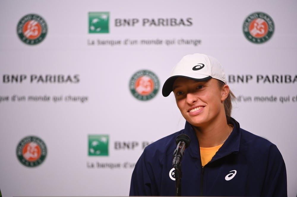 Iga Swiatek, Roland Garros 2021, press conference