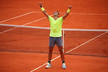 Rafael Nadal wins roland garros 2019 celebration