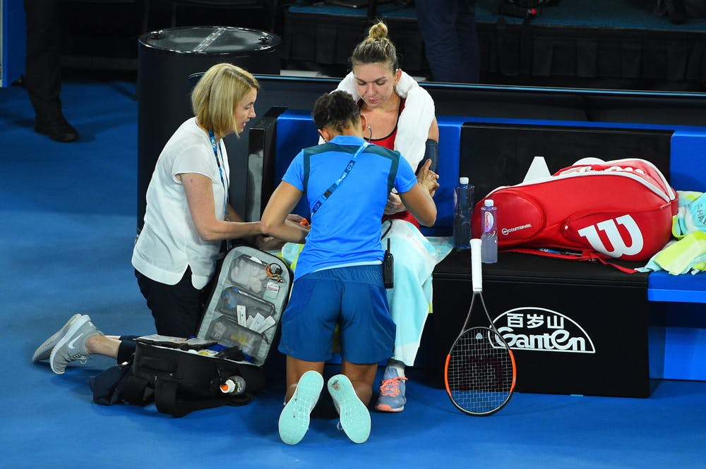 Simona Halep suffering from dehydration at the Australian Open 2019