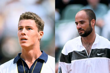 Safin VS Agassi during first round at Roland-Garros 1998