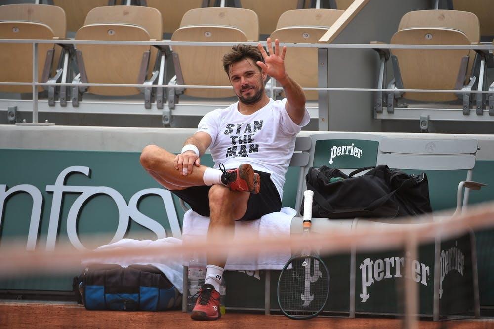 Stan Wawrinka, Roland-Garros 2020, entraînement