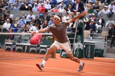 Roger Federer Roland Garros 2019 first round Sonego