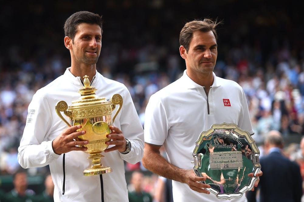 Novak Djokovic et Roger Federer, Wimbledon 2019