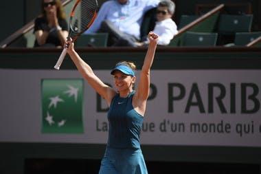 Simona Halep victoire demi-finale contre Muguruza Roland-Garros 2018