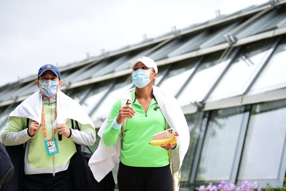 Naomi Osaka, Yutaka Nakamura, Roland Garros 2021 practice
