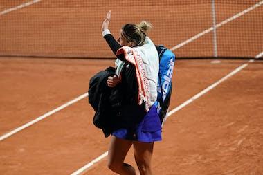 Pauline Parmentier last match Roland-Garros 2020