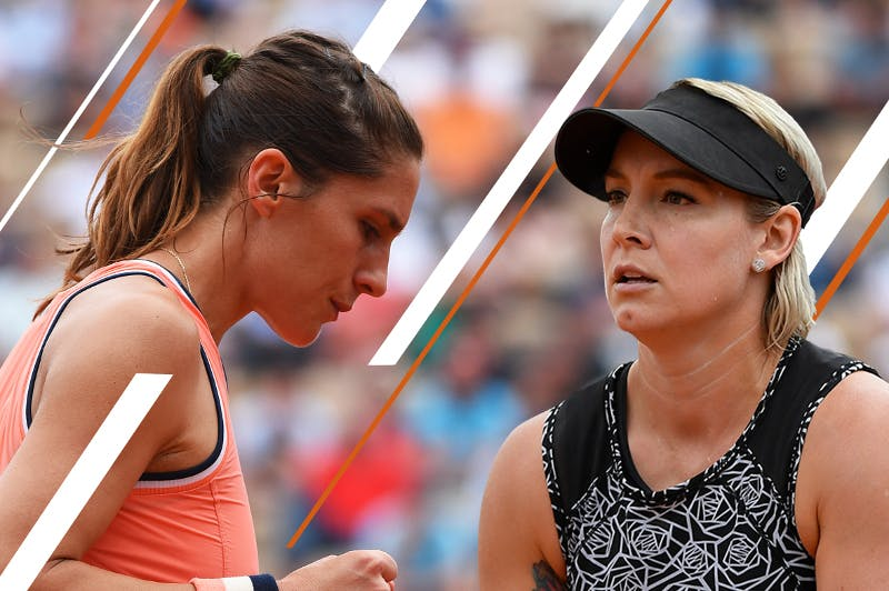 Andrea Petkovic Bethanie Mattek-Sands Roland-Garros 2018.
