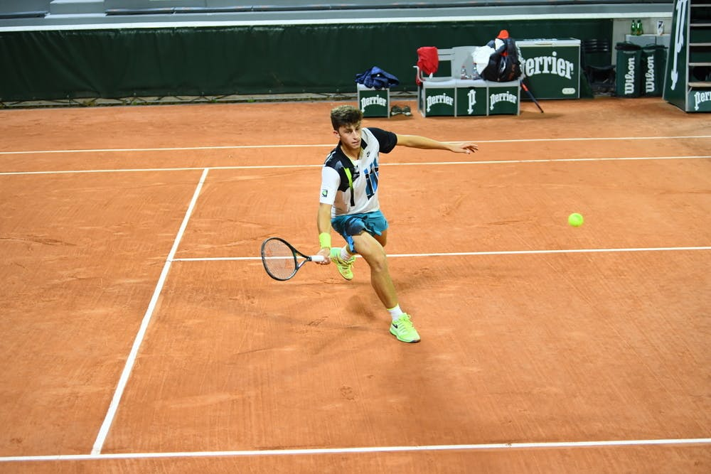 Luca Nardi, Roland Garros 2020, first round juniors