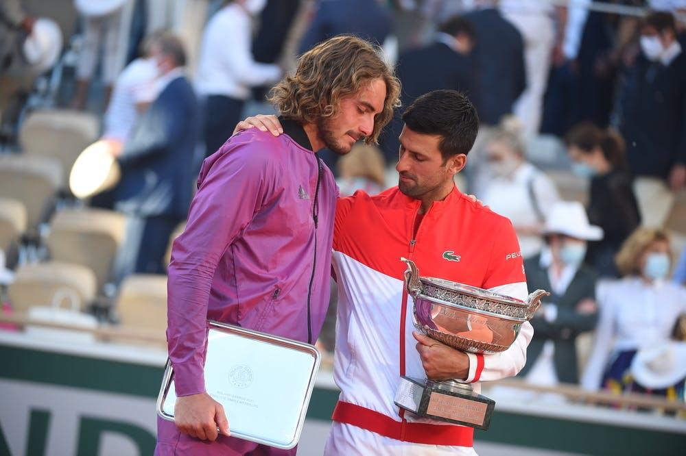 Stefanos Tsitsipas, Novak Djokovic, Roland-Garros 2021 final