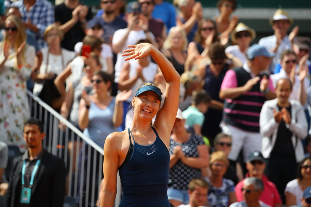 Maria Sharapova smiling at Roland-Garros
