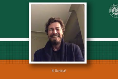 Chatting with Daniela with Marat Safin