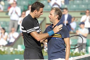 Juan Martin del Potro et Julien Benneteau Roland-Garros 2018