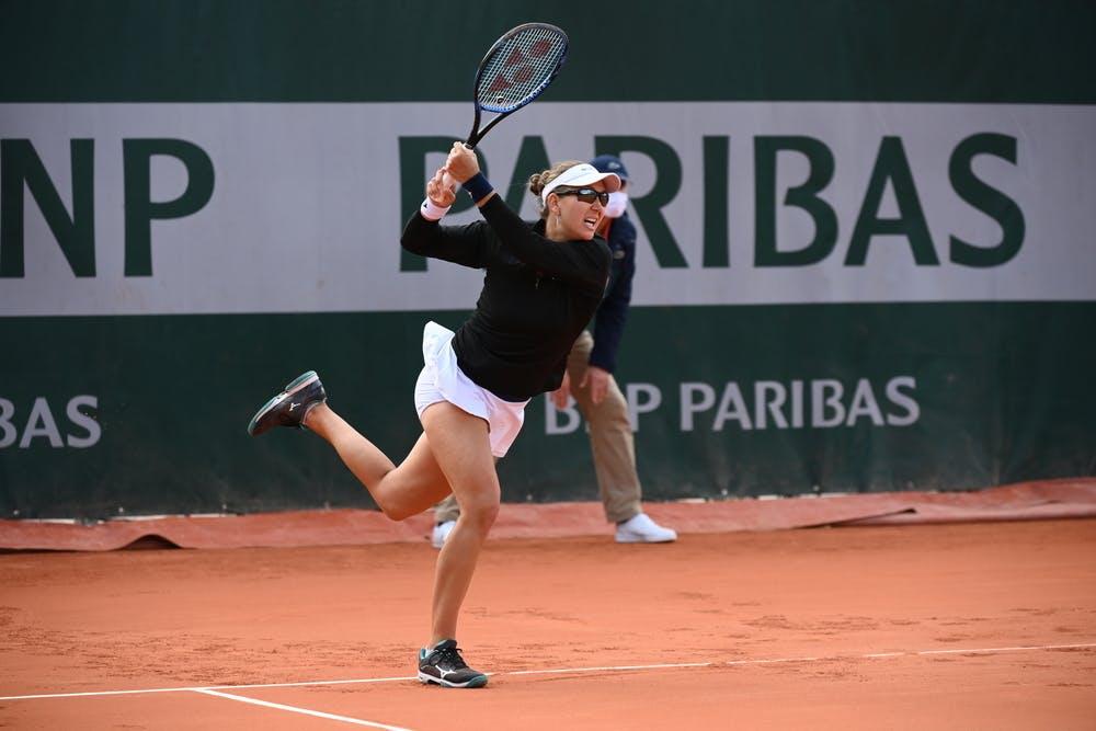 Nicole Melichar, Roland Garros 2020, doubles first round