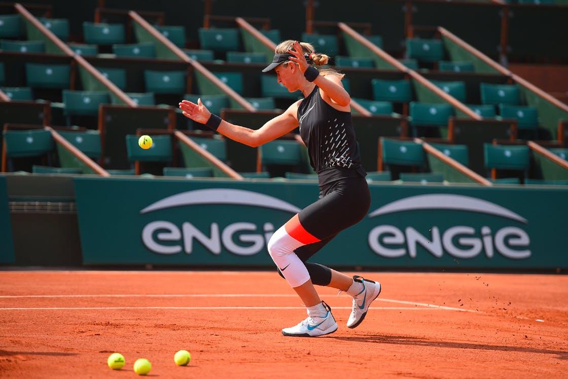 Victoria Azarenka entraînement / practice Roland-Garros 2018