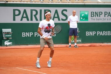 Roger Federer - Roland-Garros 2019 - Entraînement