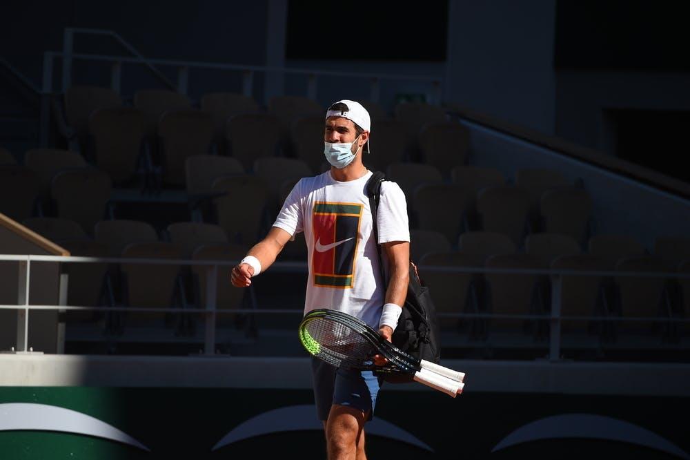 Karen Khachanov, Roland Garros 2021, practice