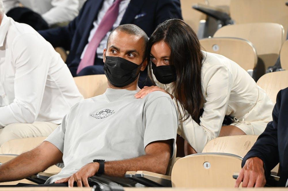 Tony Parker, Alize Lim, Roland Garros 2021, quarter-final Djokovic Berrettini