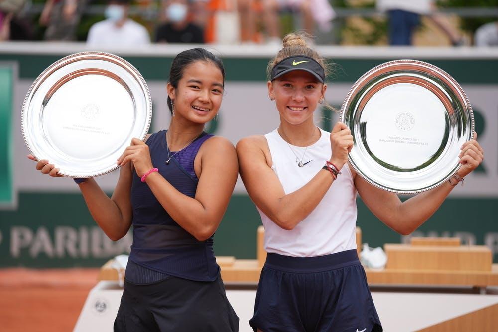 Alexandra Eala, Oksana Selekhmetova, Roland Garros 2021, girls' doubles final