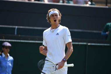 Alexander Zverev à Wimbledon 2018 2e tour