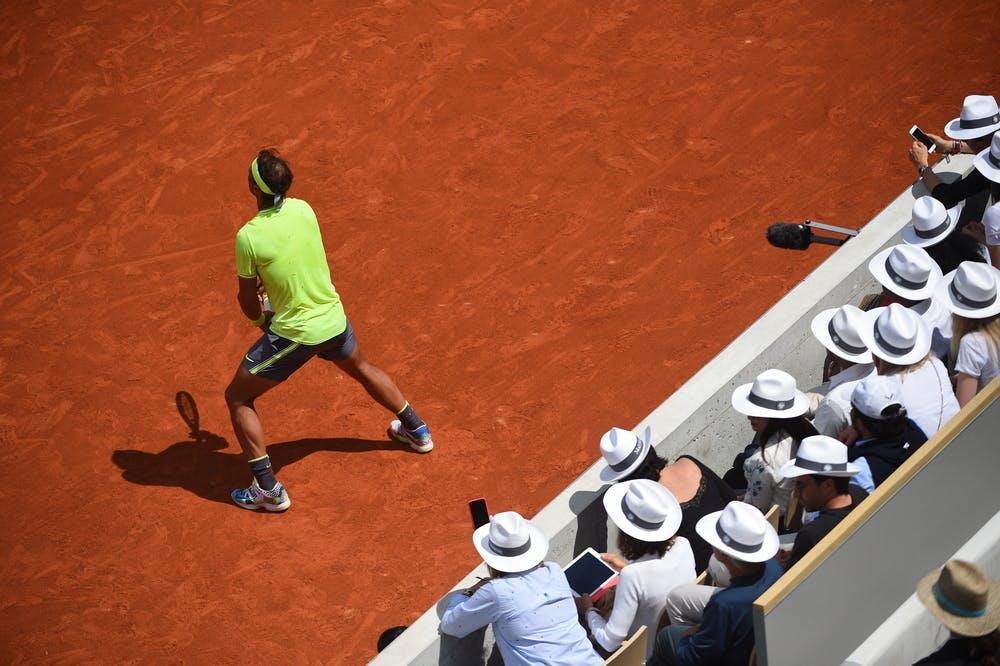 Rafael Nadal sur le court Suzanne-Lenglen
