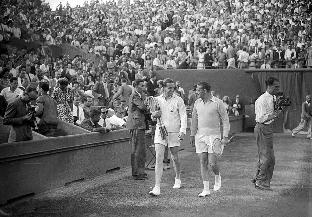 Marcel Bernard Jaroslav Drobny finale Roland-Garros 1946 / Marcel Bernard Jaroslav Drobny Roland-Garros 1946 men's final