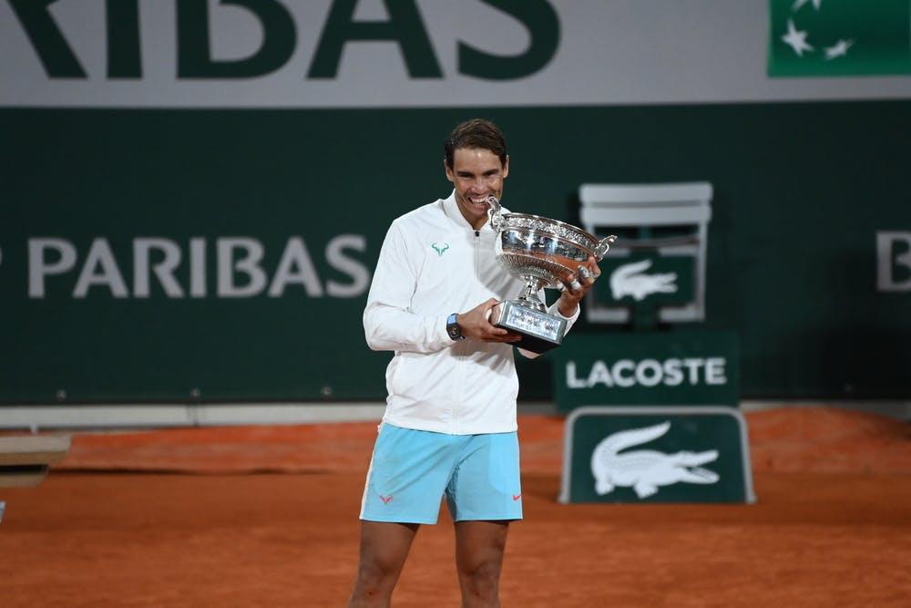 Rafael Nadal, Roland Garros 2020, finale, trofeo