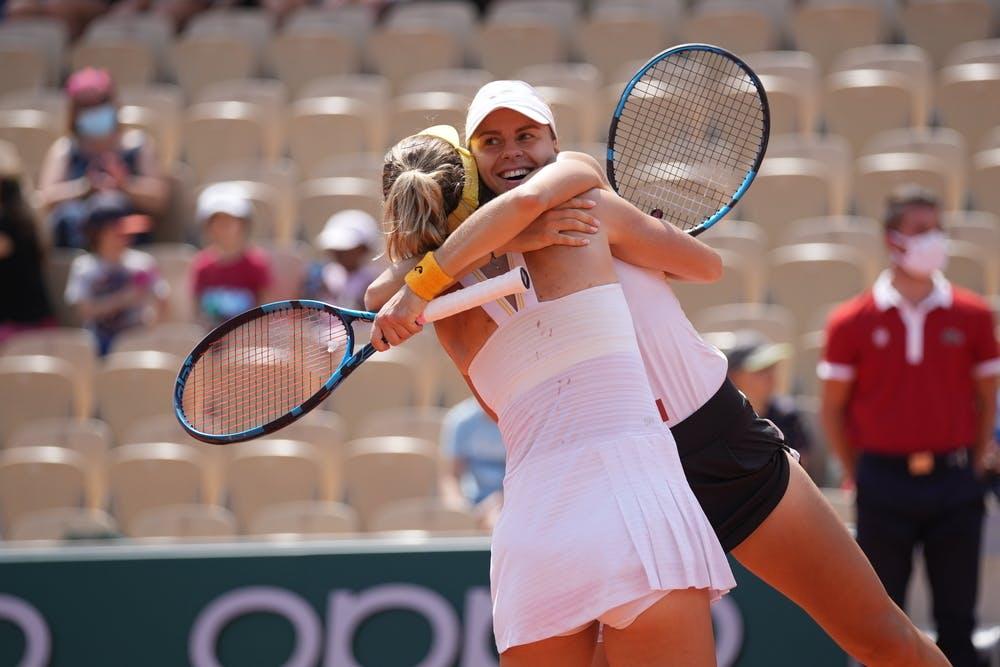 Bernarda Pera, Magda Linette, Roland-Garros 2021, women's doubles quarter-final