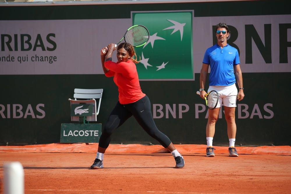 Roland-Garros 2019 - Serena Williams - Patrick Mouratoglou - practice