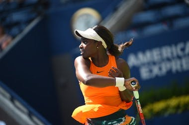 Sloane Stephens in the second round of the US Open 2018