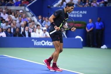 Rafael Nadal winning at the US Open 2017