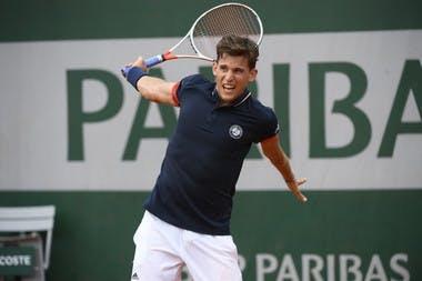 Dominic Thiem, Roland Garros 2018, Simple Messieurs, 1er Tour