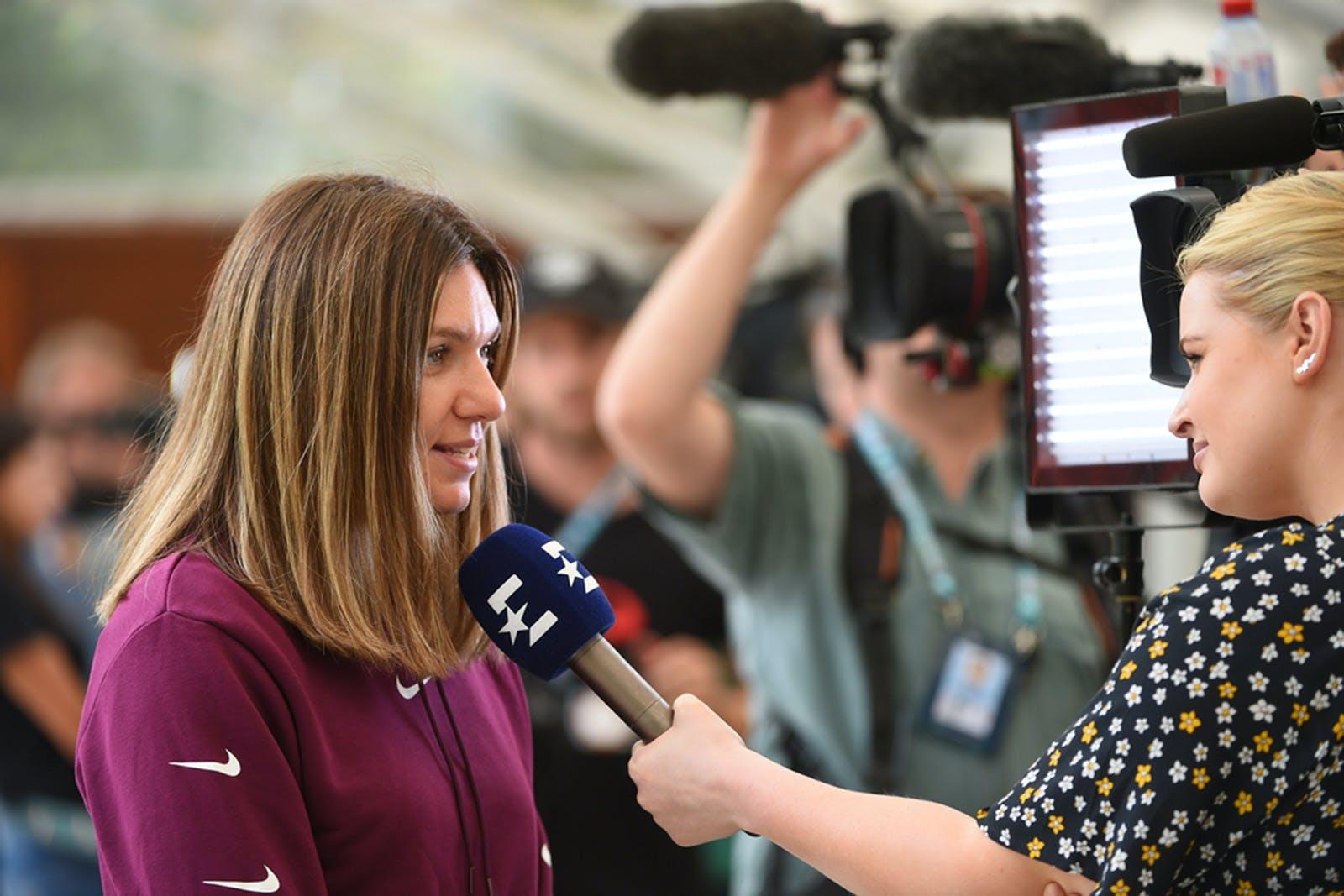 Simona Halep media day