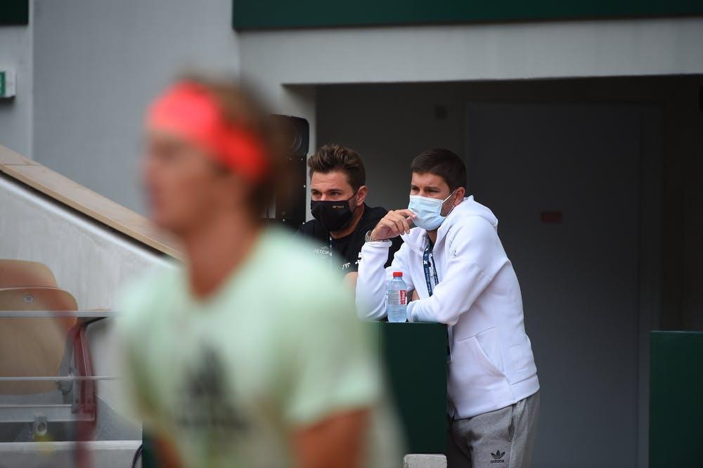 Stan Wawrinka, Dani Vallverdu, Alexander Zverev, Roland Garros 2020, practice