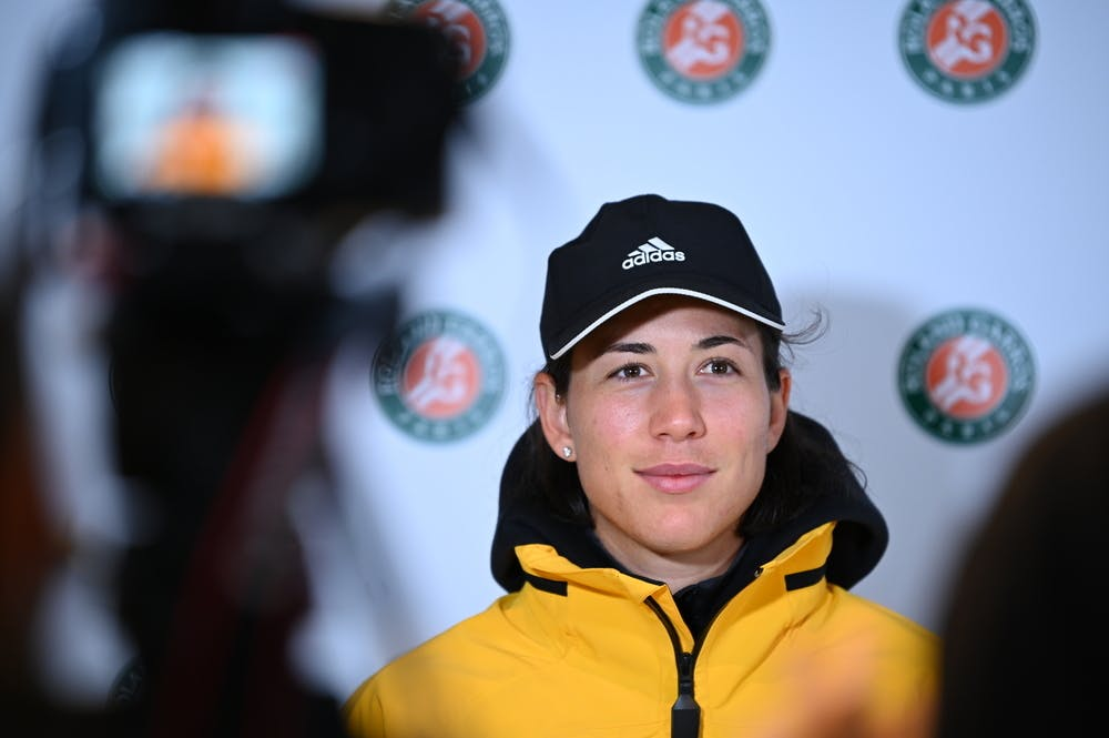 Garbiñe Muguruza lors du Media Day 2020.