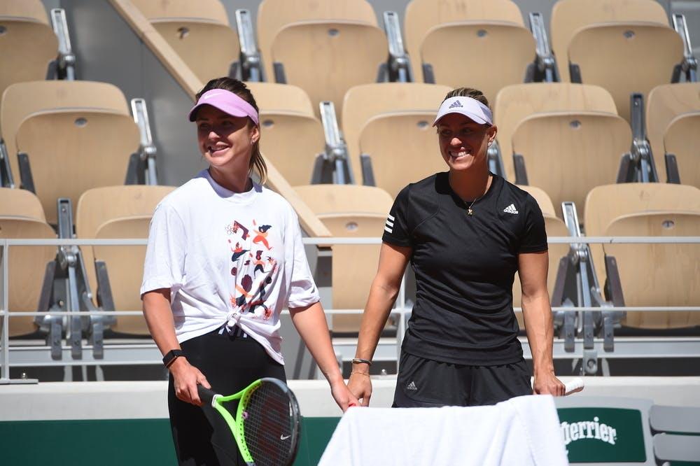 Elina Svitolina, Angelique Kerber, Roland Garros 2021 practice