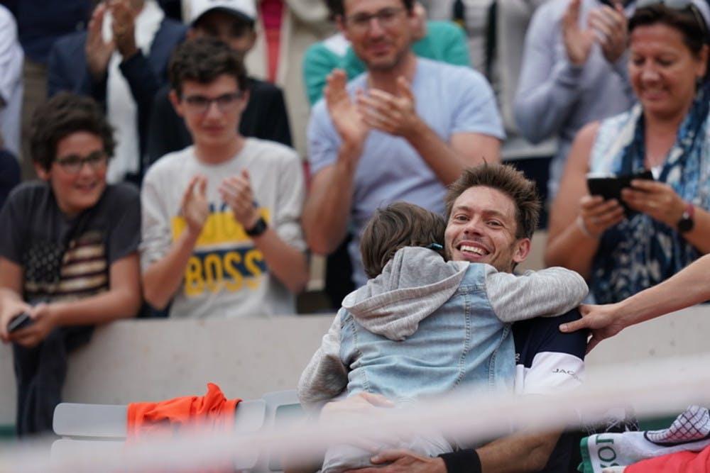 Nicolas Mahut et son fils