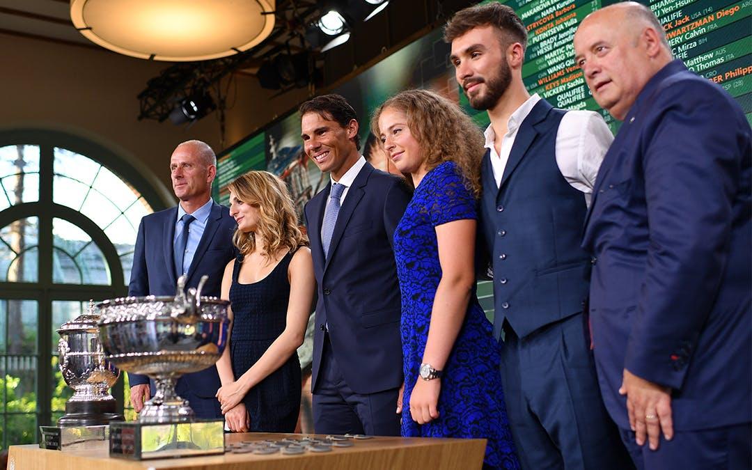 Tirage au sort de Roland-Garros 2018 à l'Orangerie du Jardin des Serres d'Auteuil/Draw ceremony Gabriella Papadakis Guillaume Cizeron