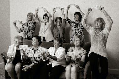 Original 9 : clockwise from top left: Valerie Ziegenfuss, Billie Jean King, Nancy Richey, Peaches Bartkowicz, Kristy Pigeon, Julie Heldman, Rosie Casals, Kerry Melville Reid, Judy Dalton.