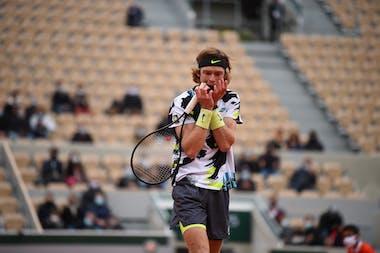 Andrey Rublev, Roland-Garros 2020, huitièmes de finale