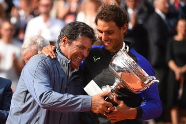Toni Nadal Rafael Nadal Roland-Garros 2017