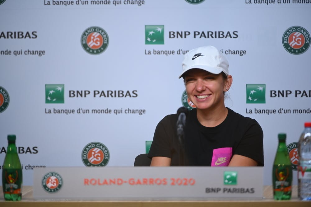 Simona Halep lors du Media Day 2020